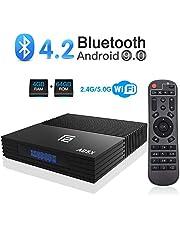Sidiwen Android 9.0 TV Box F2 Android Box 4GB RAM 64GB ROM Amlogic S905X2 Quad-Core Dual WiFi 2.4G/5G Ethernet Bluetooth 4.2 Support 3D 4K Ultra HD Smart TV Media Box