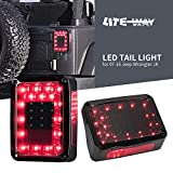 Liteway LED Tail Lights Smoked Lens for Jeep Wranlger JK 2007-2016 Brake Reverse Light Rear Back Up Turn Signal Lamp Daytime Running Lights DRL, 2 Years Warranty