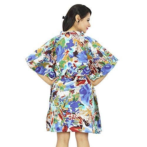 New Indian algodón Tamaño Kaftan Las mujeres más del vestido caftán Boho Hippy Beach Cover Up Multicolor