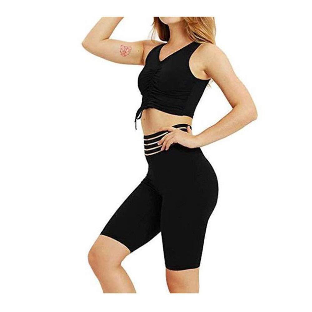 Yoga Trainingsanzug Frauen Sportswear sexy Brust Yoga Formung tragen einfarbig transparent Mesh Sportswear Shorts zwei Sätze von zu Hause Freizeit Fitness-Studio Laufbekleidung Sportwesten und Yogahos