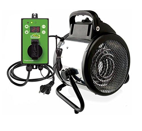 Bio Green Electric Fan Heater for Greenhouse Palma 1500 W - incl. digital Summer/Winter Thermostat ()