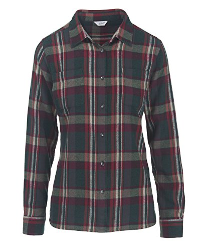 Woolrich Women's the Pemberton Flannel Shirt, Deep Forest, X-Small