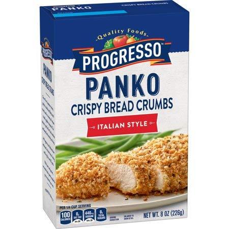Progresso Panko Bread Crumbs, Italian Style, 8 oz - 6 Pack by by Progresso
