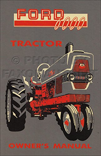 - 1961-1964 FORD SERIES 6000 TRACTOR OWNERS OPERATING & INSTRUCTION MANUAL