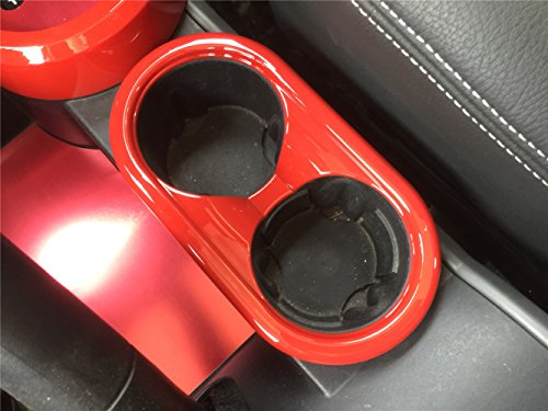 Opar Red Center Cup Holder Accent for 2007 - 2010 Jeep JK Wrangler & Unlimited