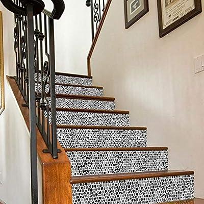 Escaleras Pegatinas Piso Calcomanías Azulejo Casa De Boda Casa Renovación Cocina Baño De Fondo (100 * 18CM) 6 Piezas: Amazon.es: Hogar