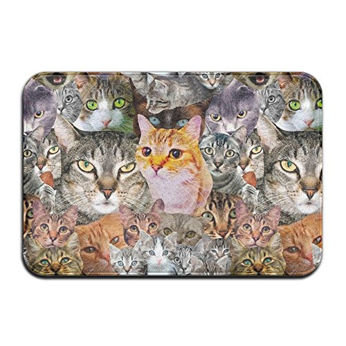 Wyuhmat1 Lotsa Cats 15.7 X 23.6 Inch(40x60cm) Restaurant/Bar Anti-Fatigue Rubber Floor Mat