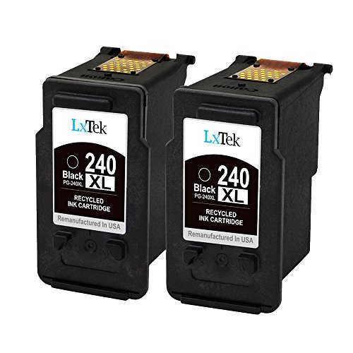 LxTek Remanufactured Ink Cartridge Replacement for PG-240XL 240XL 240 (2 Black) High Yield for PIXMA MG3620 MG3520 MX532 MX472 MG2120 MG3222 MG3522 MG3220 MX432 MX452 MX522 MX512 MG4220 MX439 MG4120