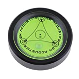 MagiDeal Aluminium Case Spirit Bubble Level For Tripod,Phonograph,Turntable Black