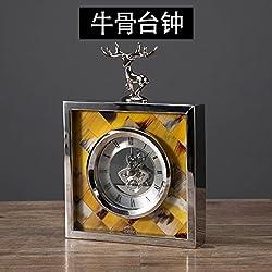 Y-Hui Shell Cow Bone Swing In The Living Room Clock Clocks Metal Desk Clock The Pendulum Desk, Like Cow Bone Desk Clock