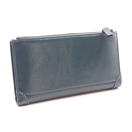 long long Men's blue wallet NHGY men's men's zipper dermis Men's wallet NHGY handbag ZqBFZxwng