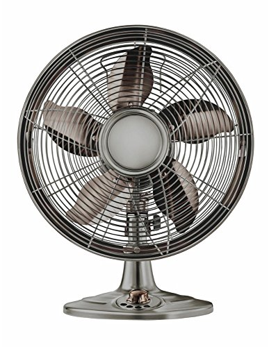Oscillating Retro Desk Fan - Insignia - Retro Style Oscillating 12