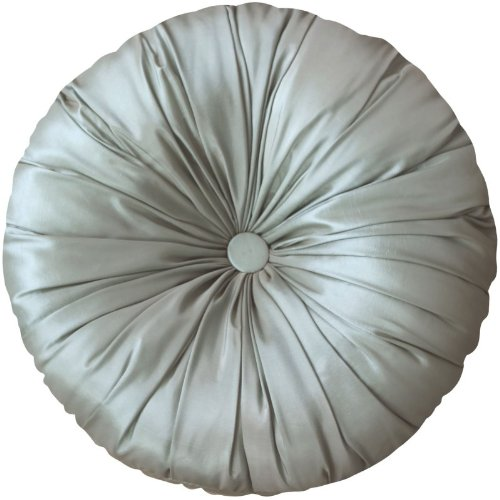 SORRENTO seda de imitación plateado cojín redondo azul 39,88 ...