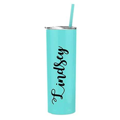 29309e4ec4b Image Unavailable. Image not available for. Color: Personalized 20 oz. Skinny  Tumbler ...