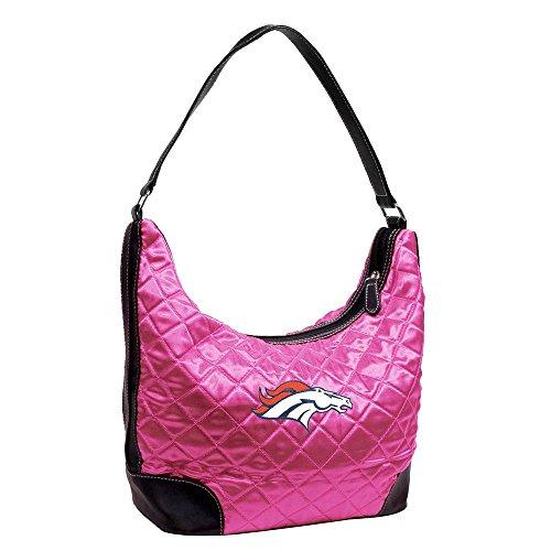 NFL Denver Broncos Pink Quilted Hobo