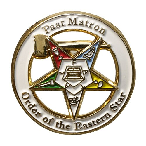 - Past Matron 7/8 th Inch Lapel Pin OES Order of the Eastern Star