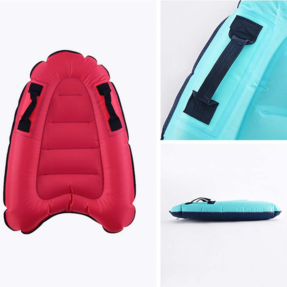 Elikliv Outdoor Inflatable Surfboard Solid Color Buoy Kickboard Safe Sea Surfing Board 1pcs Adults Children Inflatable Surfboard Swim Accessories Red
