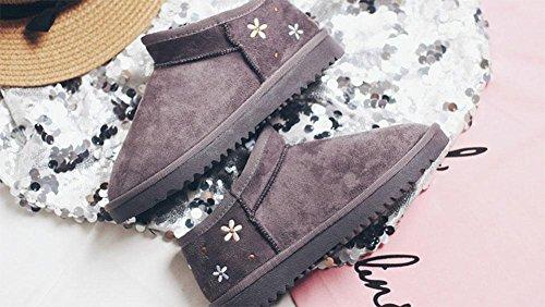 cachemira además 5 botas botas grueso antideslizante de de de salvaje UK5 MEILI versión Zapatos de de cálido nieve EU38 estudiantes algodón mujer corto zapatos 5 US7 CN38 mujer tubo botas coreana twvgq1RF