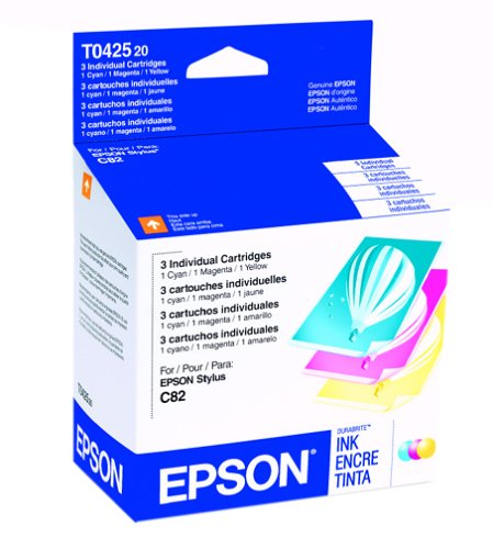 Epson DURABrite Inkjet Cartridge Color Multipack (1 Cyan, 1 Magenta, 1 Yellow) (T042520)