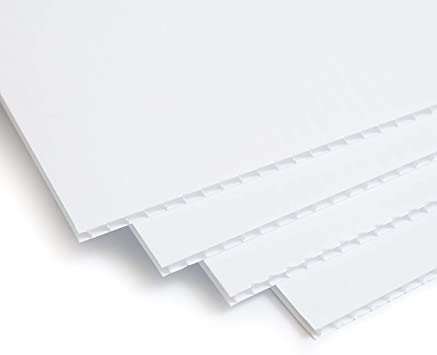 "4mm x 24/"" x 36/"" White Corrugated Plastic Coroplast Sign Sheets 5 pack"