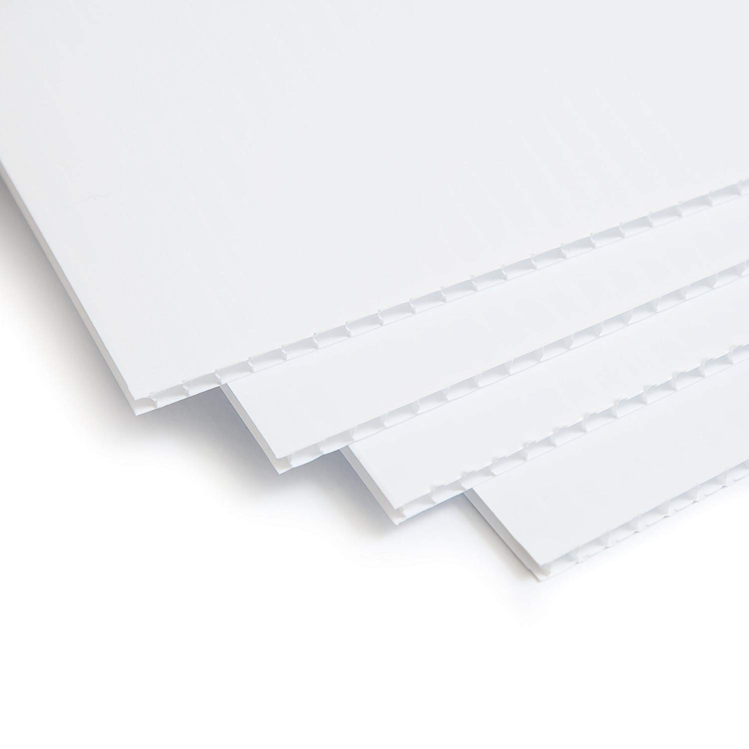 2 Pack White Corrugated Plastic Sheets 24 x 36 inch 2 Pack Blank Yard Signs Coroplast Sheets Plastic Panels for A-Frame Sidewalk Signs- Coroplast for Guinea Pig Cage