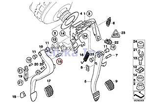 Amazon Com Bmw Genuine Clutch Master Cylinder Pin Master Cylinder To Clutch Pedal 320i 323ci
