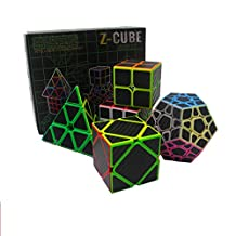 Speed Cube Puzzle Pack | 2x2 3x3 4x4 5x5 Stickerless Cube Set | 5 Pieces Magic Cubes Collection | Puzzle Toys Brain Teaser Gifts