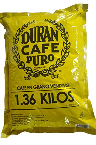 Cafe Duran Panama Whole Roasted Coffee Beans Coffee Duran from The Highlands of Panama (3 Pounds)