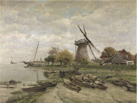 Costume Homme Nouvel An (Oil Painting 'Isidore Meyers - The Scheldt In Mariakerke', 18 x 24 inch / 46 x 61 cm , on High Definition HD canvas prints is for Gifts And Bar, Bath Room And Laundry Room Decoration, pop)