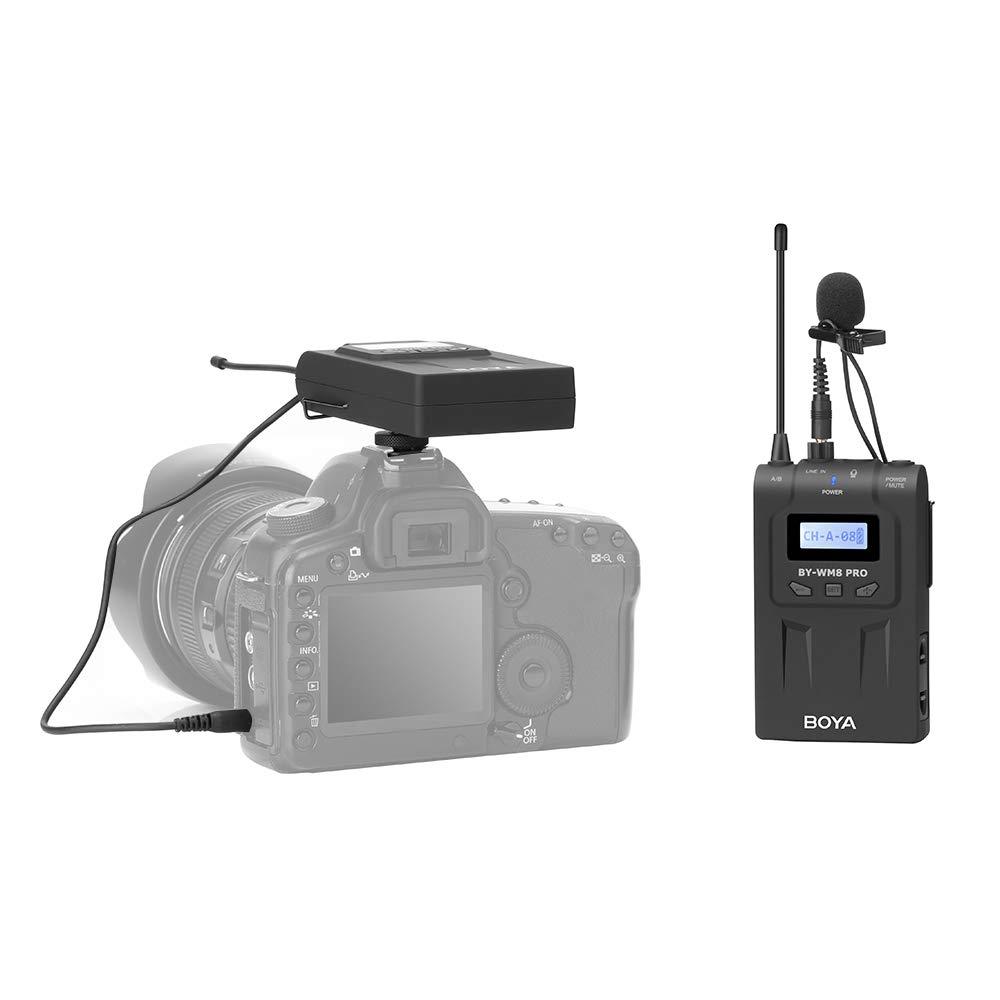 Colore BOYA BY-WM8 PRO-K1 Set Microfono Wireless UHF Nero