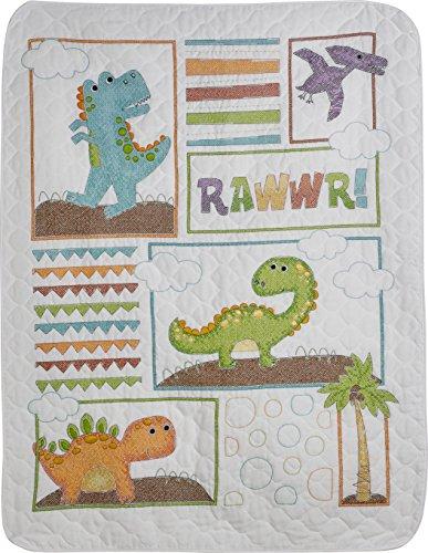 (Bucilla 47722 Dino Baby Crib Cover)