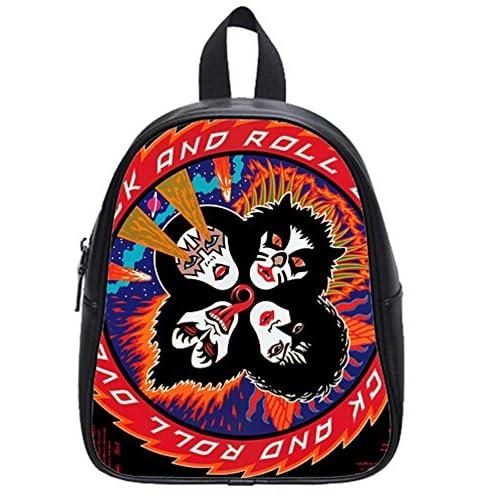 Rock Kiss Band middle school Student Shoulder School Bag travel backpack
