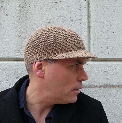 (Crochet Baseball Cap in Khaki)