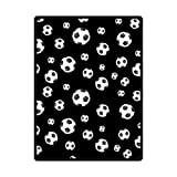 High Quality And Comfortable Soccer Ball Custom Blanket 58'' x 80'' (Large)