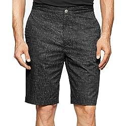 Calvin Klein Men's Water-Print Shorts Black 33W