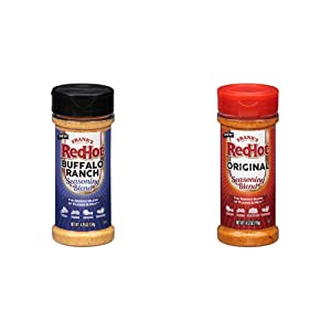 Frank's RedHot Original Seasoning Blend (Hot Sauce Powder) 4.12 oz with Frank's Redhot Buffalo Ranch Seasoning Blen, (Buffalo Flavor), 4.75 oz