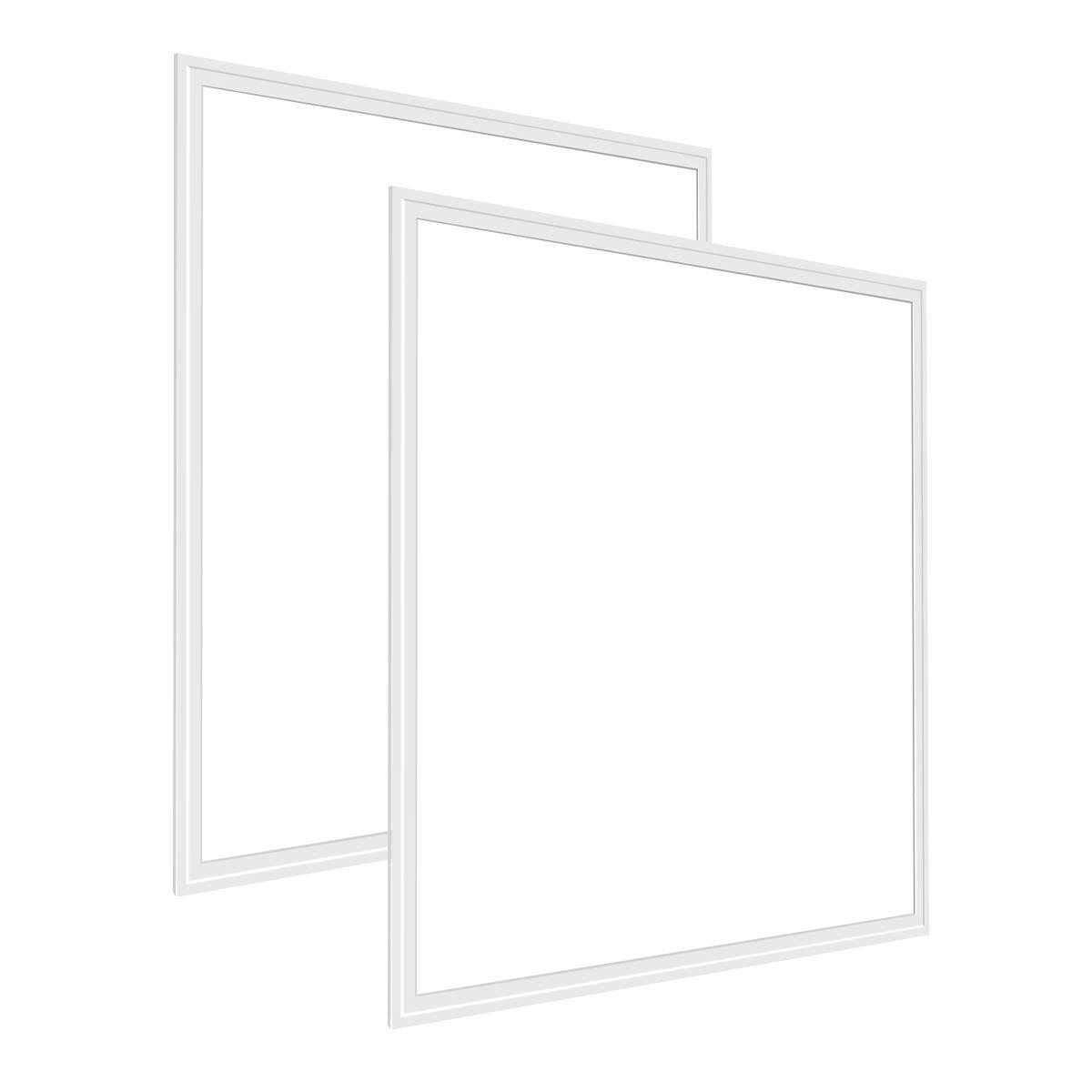 LE 2er 40W quadratische 3800lm led Panel, Ersatz für 80W Leuchtstoffröhren, 3000K Warmweiß, 595x595mm LED Panelleuchten mit Befestigungsmaterial und Treiber/Trafo, LED Panellampen Deckenleuchte Pendelleuchte [Energieklasse A+] 3000K Warmweiß Lighting EVER