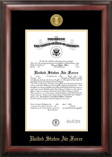 Air Force Commission Frame Gold Embossed by Patriot