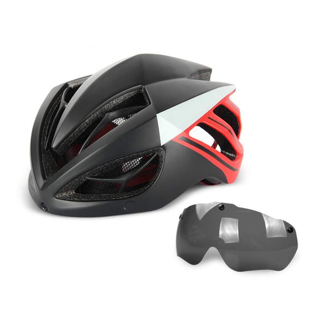 【2018A/W新作★送料無料】 キールゴーグルサイクルヘルメット、ロードマウンテンバイクヘルメット軽量専門男性女性乗馬ヘルメット自転車レーシング安全キャップ B07NJSZ4NB Red B07NJSZ4NB Red, Asumiウェディング:f53a0ac1 --- a0267596.xsph.ru