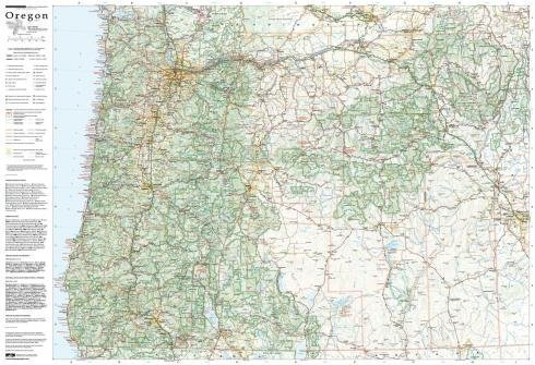Oregon Wall Map Laminated (Oregon Wall Map)