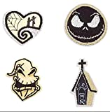 Disney Nightmare Before Christmas Patched Set of 4 Patches