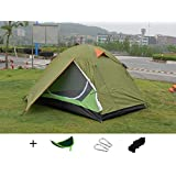Luxetempo 2 Person Lightweight Camping and Backpacking Tent-2 Doors 2 Vestibules Water Resistant with Rainfly