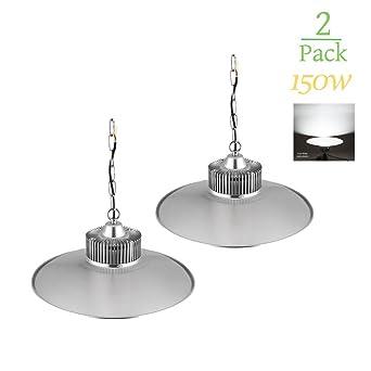150w Lámpara Techo , Foco Industrial de Interior , UFO LED Iluminación para Gimnasio , Cafetería