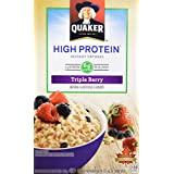 Instant Quaker Oats Quaker Protein Triple Berry Instant Oatmeal, 228g