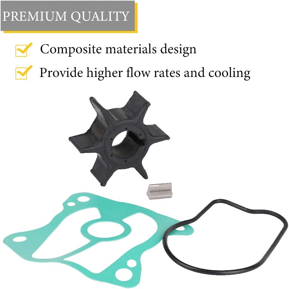 06192-ZW3-000 Replace 06192-ZV5-003 Tutor Auto Water Pump Impeller Kit Compatible with Honda 35-50 HP BF35 BF40 BF45 BF50 18-3282