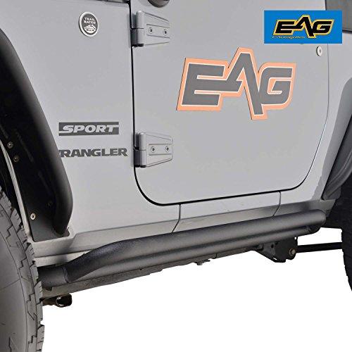 EAG Side Armors Tubular Rocker Guards for 07-17 Jeep Wrangler JK 2 Door – Pair