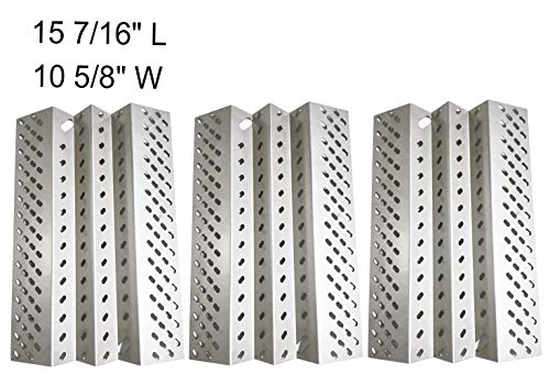 SH2461 (3-pack) Stainless Steel Heat Plate Replacement for Select American Outdoor Grill Gas Grill Models