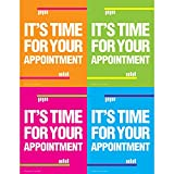 Practicon 512080 'It's Time for Your Appointment' Laser Card (50 Cards per Pack, 200 Total)