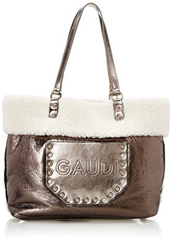 Linea Belle 33x31x14 sac Shopping Gaudì à main Gun Grigio Cm fwqP5cR