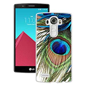Newest And Fashionable LG G4 Case Designed With Peacock Feather White LG G4 Screen Cover High Quality Cover Case